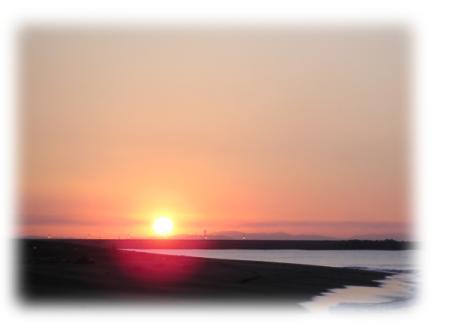 平塚海岸から江ノ島方面を望む